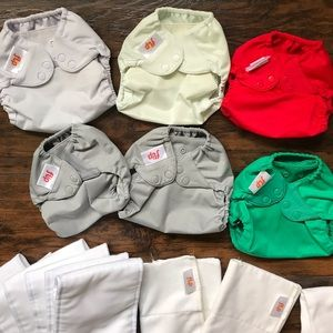 BumGenius Flip Hybrid Diaper Lot of 6 +11 inserts